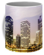 Night Scenes Of City Coffee Mug by Setsiri Silapasuwanchai