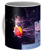 Paintball Shot At Razor Blade Coffee Mug