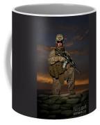 Portrait Of A U.s. Marine In Uniform Coffee Mug by Terry Moore