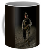 Portrait Of A U.s. Marine Coffee Mug by Terry Moore
