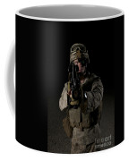 Portrait Of A U.s. Marine Wearing Night Coffee Mug