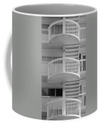 3 Rails In Black And White Coffee Mug