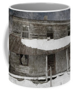 Snowy Abandoned Homestead Porch Coffee Mug