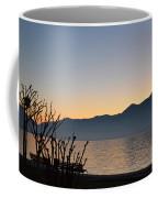 Sunset Over An Alpine Lake Coffee Mug