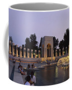The Pacific Pavilion And Pillars Coffee Mug by Richard Nowitz