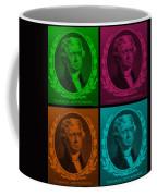 Thomas Jefferson In Quad Colors Coffee Mug