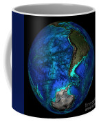 Topographical Map Of Coordinates 45 S Coffee Mug by Science Source