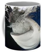 Whale Shark Feeding Under Fishing Coffee Mug
