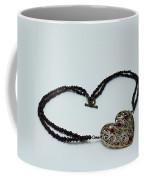 3597 Vintage Heart Brooch Pendant Necklace Coffee Mug