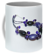 3598 Purple Cracked Agate Necklace Coffee Mug