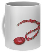 3619 Rhodonite And Bali Sterling Silver Necklace Coffee Mug