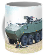 A Belgian Army Piranha IIic With The Fn Coffee Mug by Luc De Jaeger
