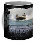 A Landing Craft Air Cushion Prepares Coffee Mug