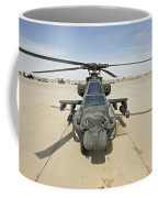 An Ah-64d Apache Helicopter At Cob Coffee Mug