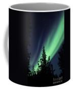 Aurora Borealis Above The Trees Coffee Mug