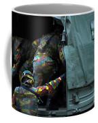 Belgian Paracommandos Entering Coffee Mug by Luc De Jaeger