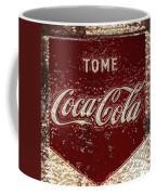 Coca Cola Classic Vintage Rusty Sign Coffee Mug