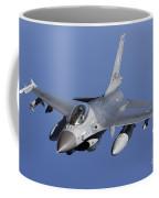 Dutch F-16am During A Combat Air Patrol Coffee Mug