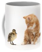 Ginger Kitten And Mallard Duckling Coffee Mug