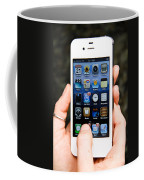 Hands Holding An Iphone Coffee Mug