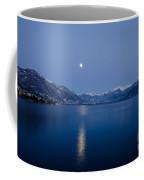 Moon Light Over An Alpine Lake Coffee Mug