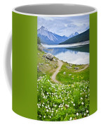 Mountain Lake In Jasper National Park Coffee Mug