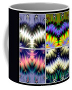 4 Panel Look Hearts Ud Fractal 64 Coffee Mug