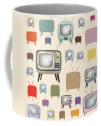 retro TV pattern  Coffee Mug
