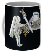 Russian Cosmonauts Working Coffee Mug
