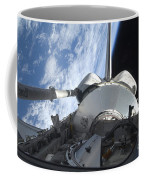 Space Shuttle Discovery Backdropped Coffee Mug