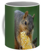 Squirrel Eating Sweet Corn Coffee Mug