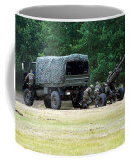 A Belgian Artillery Unit Setting Coffee Mug by Luc De Jaeger