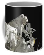 Astronauts Working On The International Coffee Mug