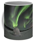 Aurora Borealis Over An Igloo On Walsh Coffee Mug by Jiri Hermann