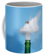 Champagne Cork Popping Coffee Mug by Ted Kinsman