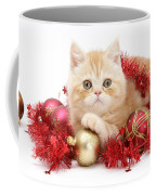 Kitten With Tinsel Coffee Mug
