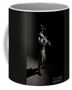Partially Silhouetted U.s. Marine Coffee Mug