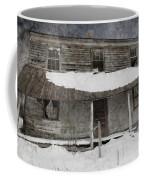 Snowy Abandoned Homestead Porch Coffee Mug