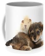 Yorkipoo Pup With Guinea Pig Coffee Mug