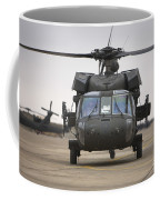 A Uh-60 Black Hawk Taxis Coffee Mug by Terry Moore
