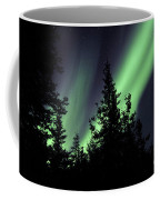 Aurora Borealis Above The Trees Coffee Mug
