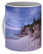 Georgian Bay Cliffs At Sunset Coffee Mug
