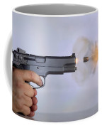 Handgun And .45 Caliber Bullet Coffee Mug