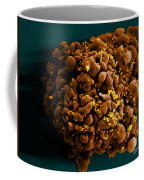 Hiv-infected H9 T Cell, Sem Coffee Mug by Science Source