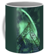Powerlines And Aurora Borealis Coffee Mug by Arild Heitmann