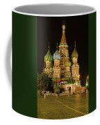 Red Square In Moscow At Night Coffee Mug