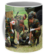 Soldiers Of A Belgian Infantry Unit Coffee Mug by Luc De Jaeger