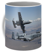 Two A-10 Thunderbolts Fly Coffee Mug