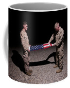 U.s. Marines Fold The American Flag Coffee Mug