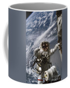 Astronaut Participates Coffee Mug by Stocktrek Images